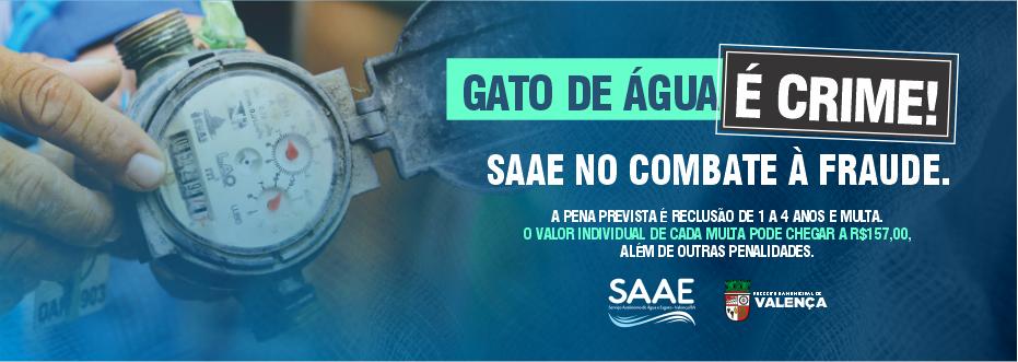 SAAE NO COMBATE AO GATO DE ÁGUA